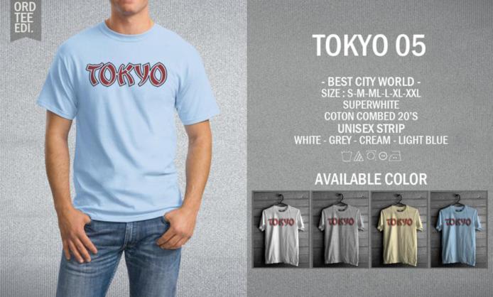KAOS TOKYO 05 MURAH | KAOS DISTRO MURAH | RABBANI DISTRO