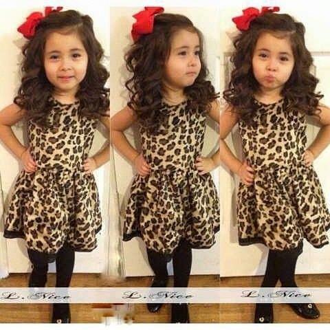 dress Anak | dress leopard | dress korea