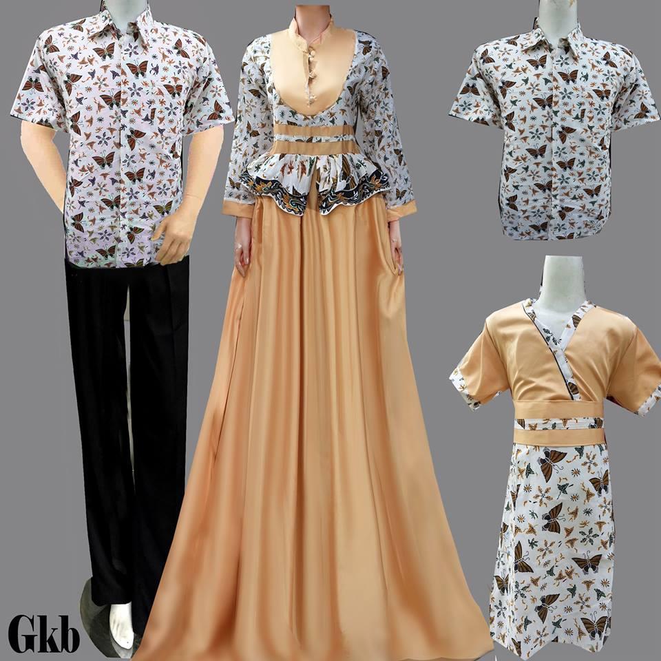 Jual Baju Batik Keluarga Sarimbit Keluarga Couple Family Gamis Ibu
