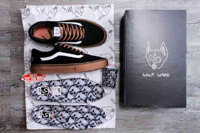 Sepatu Sneakers premium VANS OLDSKOOL GOLF WANG BLACK GUM Original ICC