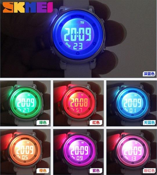 Jam Tangan COUPLE (Ibu Anak) SKMEI LAMPU LED Anti Air Waterproof 5ATM