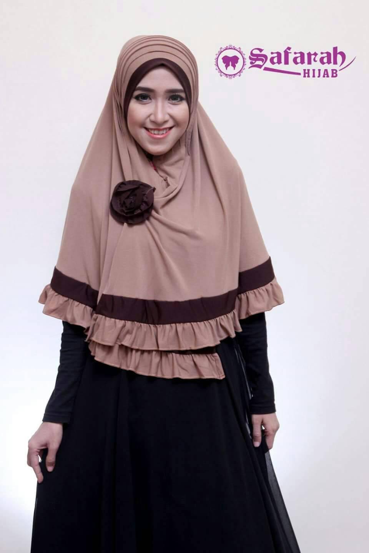 hijab lipit rose