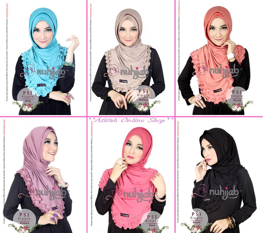 Nuhijab PSI Ripple - Jilbab Instan Hijab Kreasi