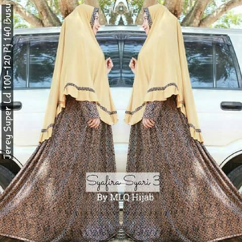 SUPPLIER BAJU HIJAB : syafira syari 3 ori MLQ hijab