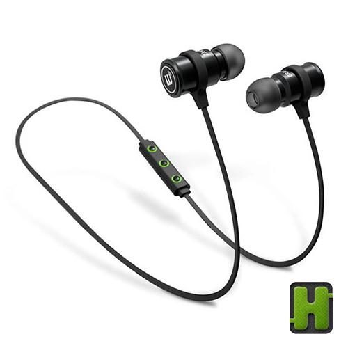 BRAINWAVZ Earphone Wireless Bluetooth + Microphone | Mic Phone Blu-100