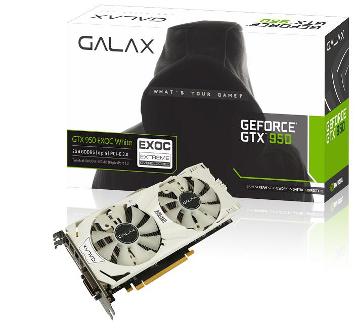 Galax Geforce GTX 950 EXOC (EXTREME OVERCLOCK) 2GB DDR5 - Dual Fan murah