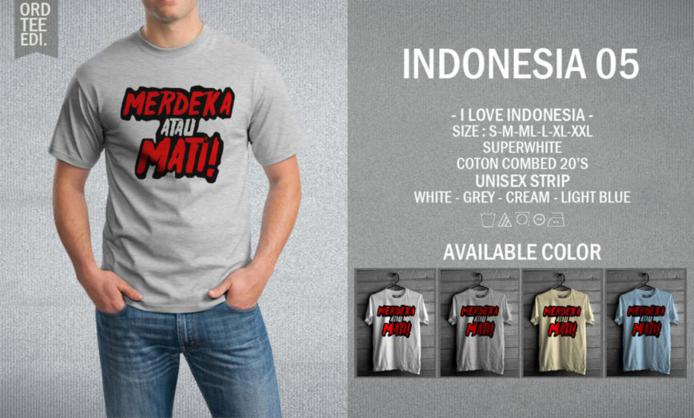 KAOS INDONESIA 05 MURAH | KAOS DISTRO MURAH | RABBANI DISTRO
