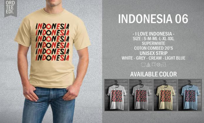KAOS INDONESIA 06 MURAH | KAOS DISTRO MURAH | RABBANI DISTRO