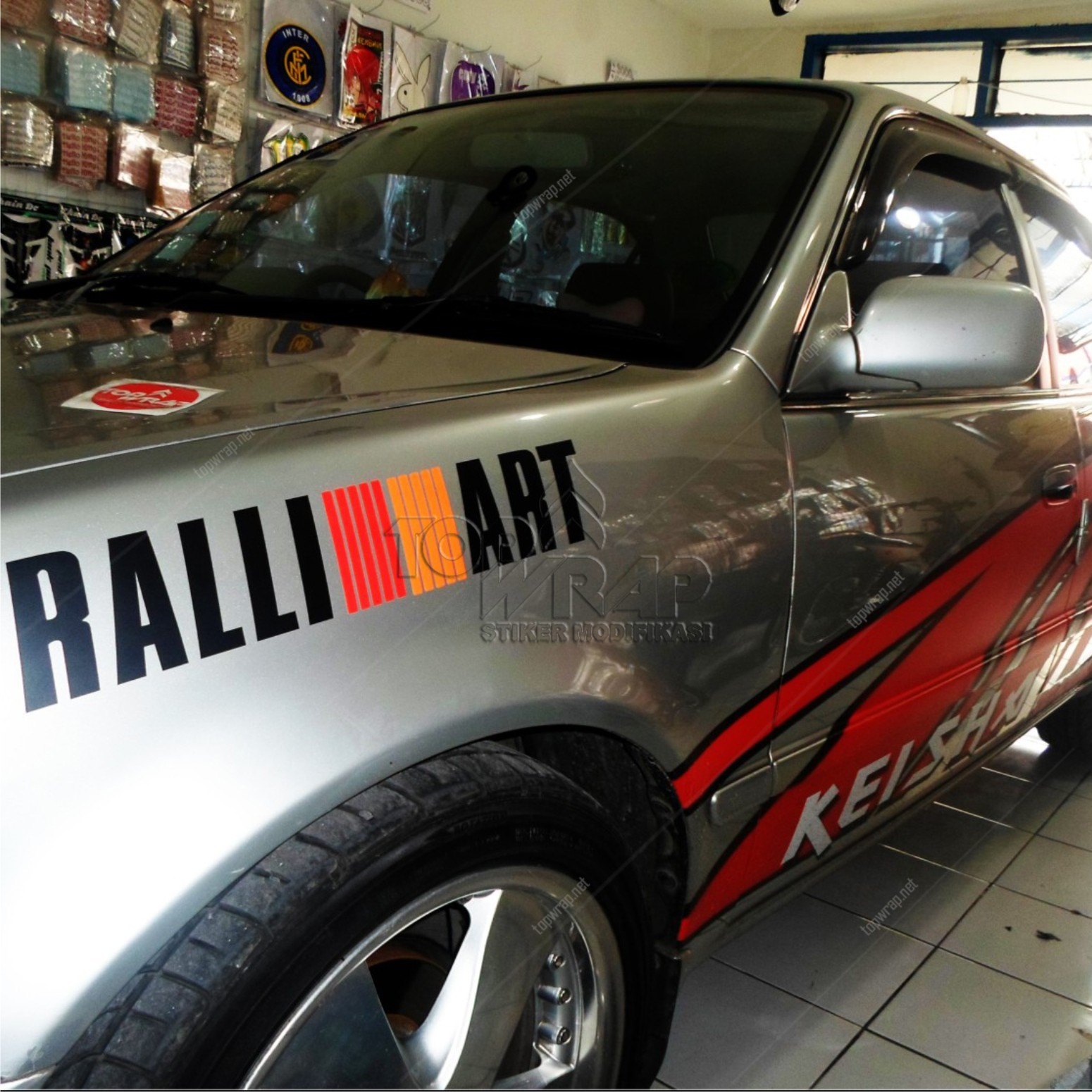 Jual Striping Sporty Ralli art / Stiker Mobil / Cutting ...