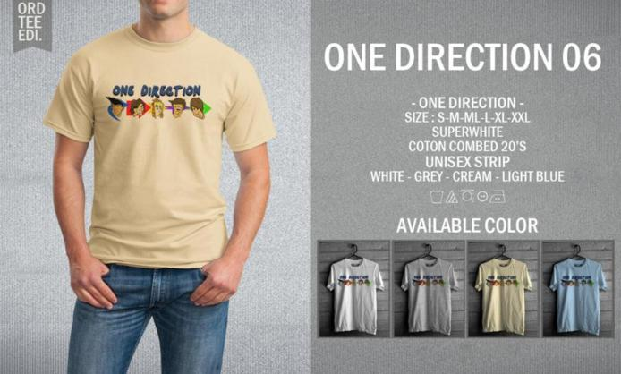 KAOS ONE DIRECTION 06 MURAH | KAOS DISTRO MURAH | RABBANI DISTRO