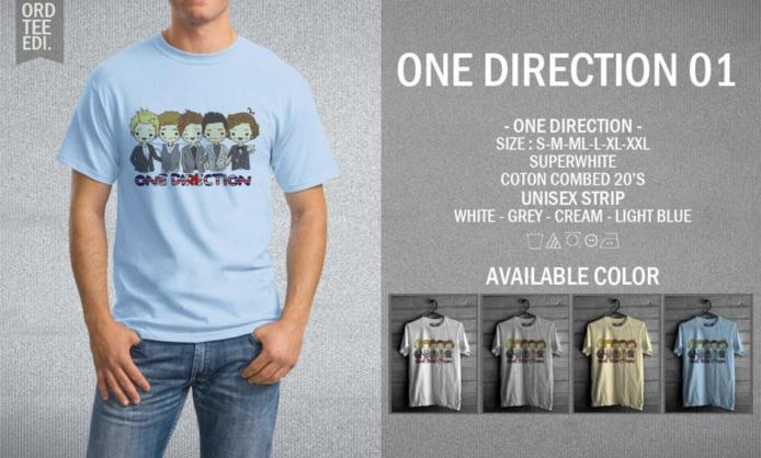 KAOS ONE DIRECTION 01 MURAH | KAOS DISTRO MURAH | RABBANI DISTRO