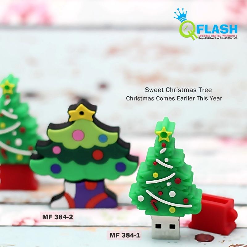Usb Flashdisk Unik Christmas Tree Pohon Natal Murah 8GB