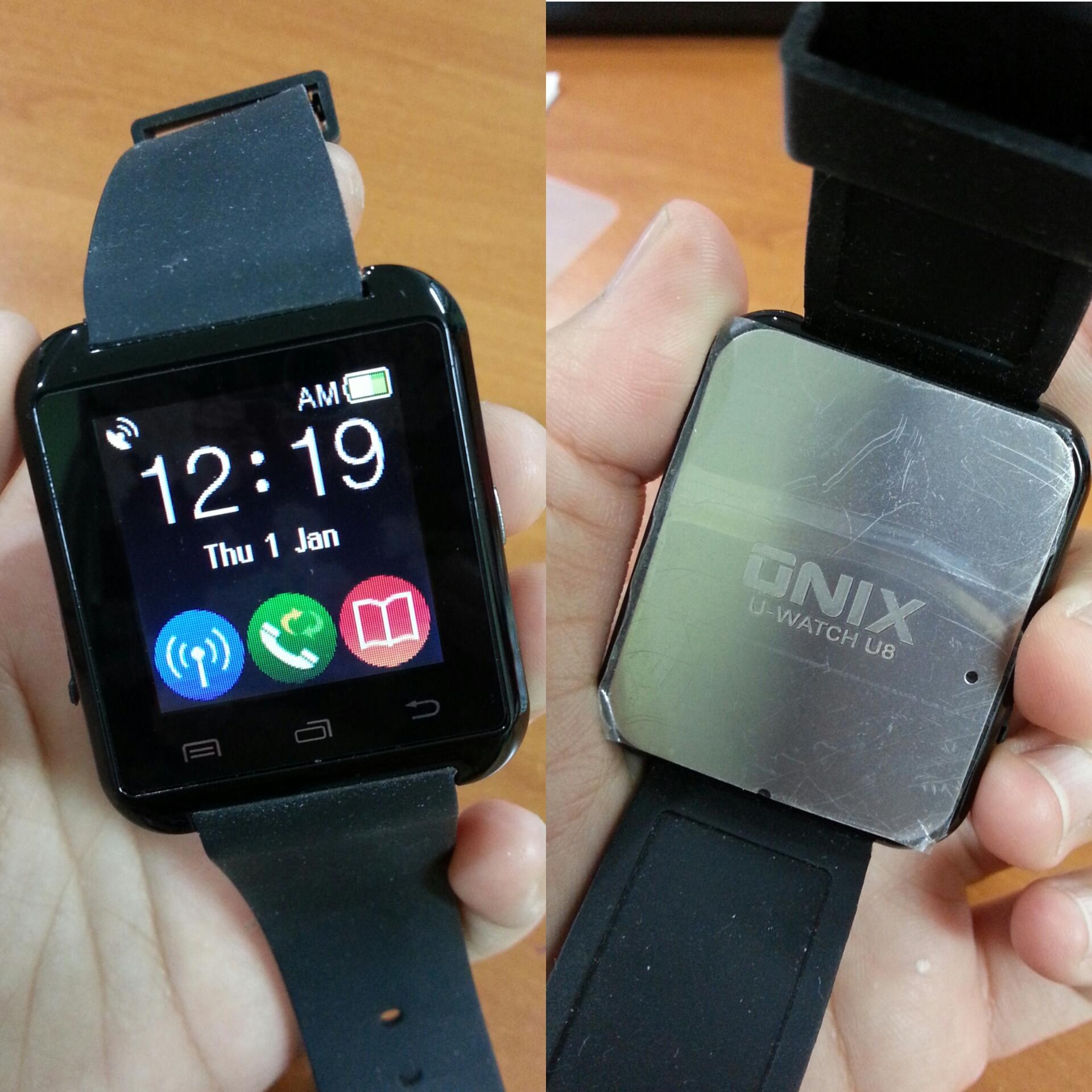 Jual Onix U Watch U8 Smartwatch Original Strap Rubber Hitam Source · 602568 28de7ca6 0116 450a