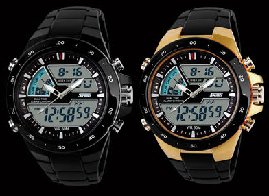 Jam Tangan Anti Air SKMEI + BOX Dual Time Digital Waterproof Berenang
