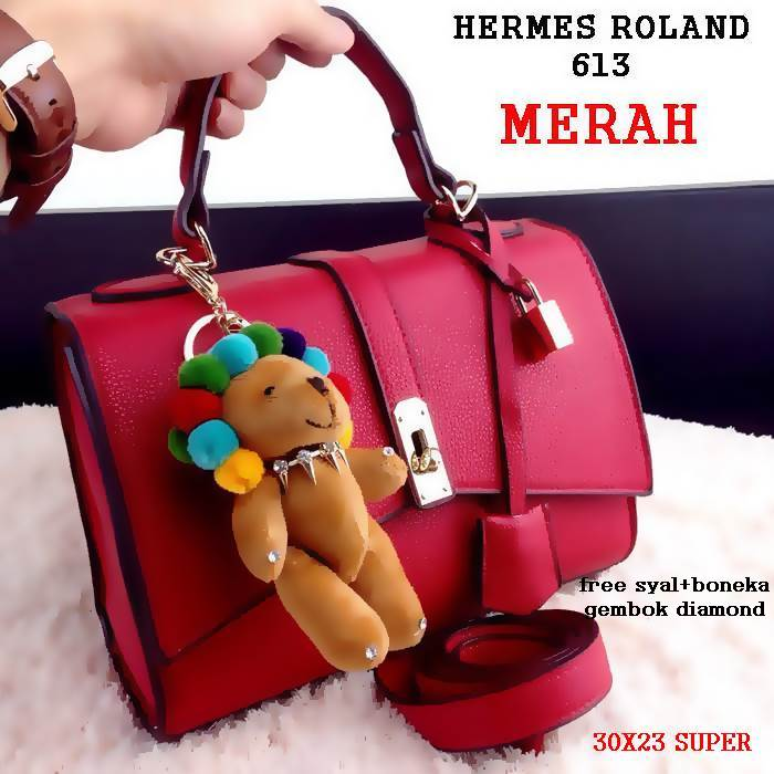 TAS HERMES ROLAND 613 DIAMOND BONEKA 170.000RB READY