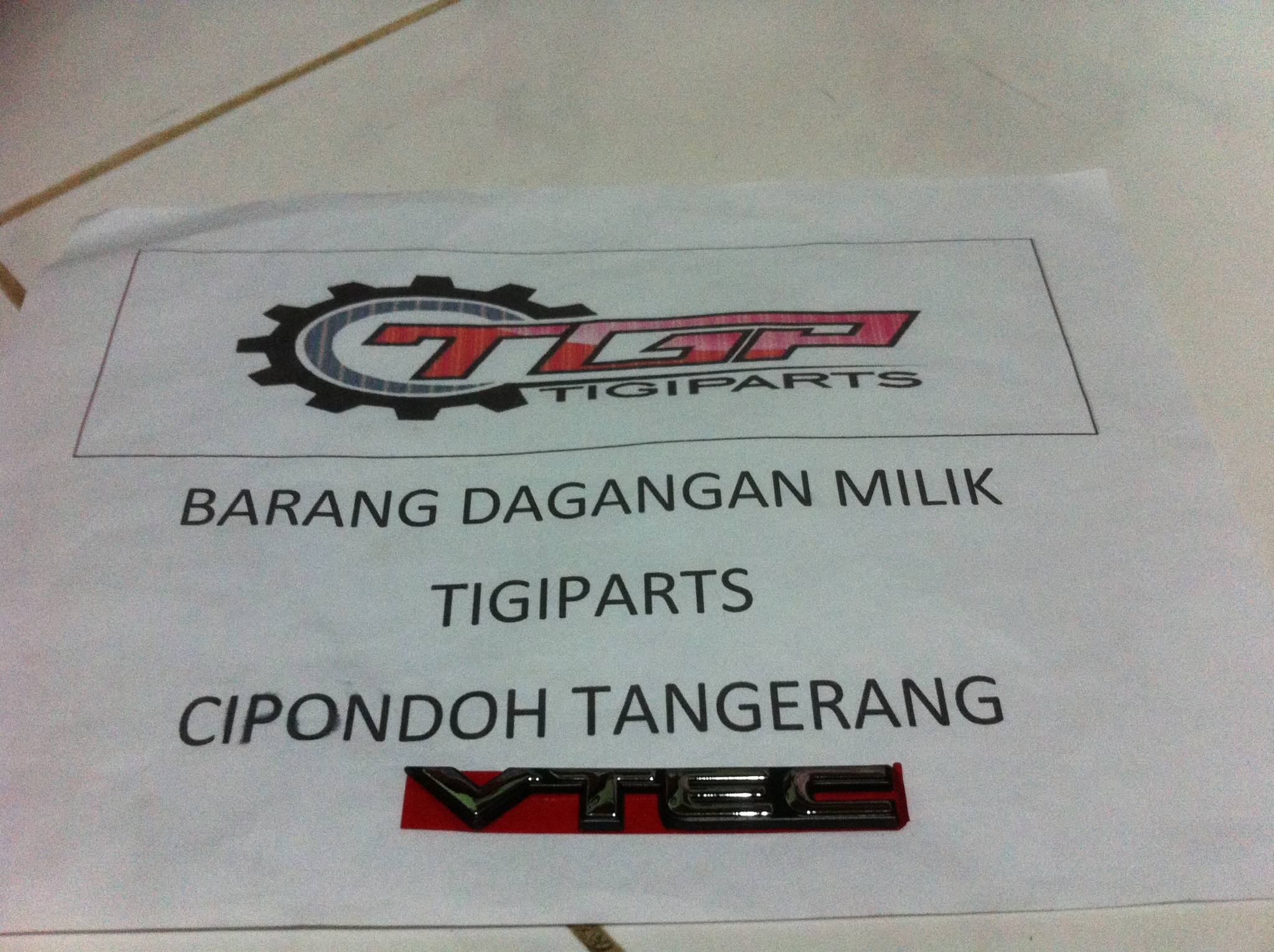 emblem VTEC Jazz city pertama new city