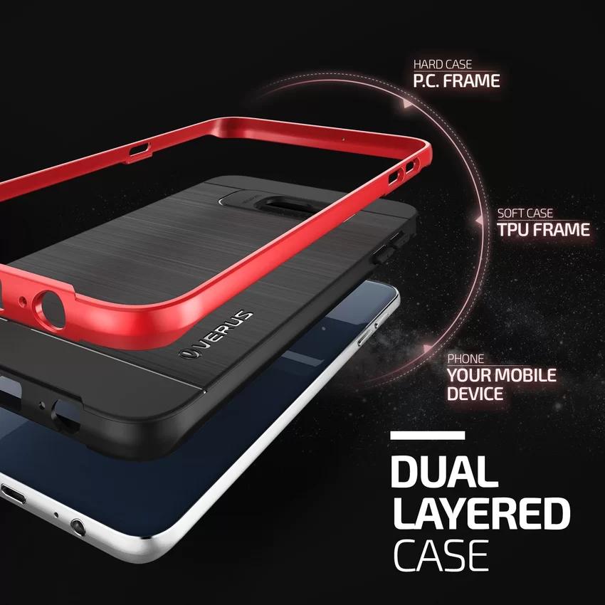 Verus Samsung Galaxy S6 Edge Plus High Pro Shield Crimson - Hitam-Mera