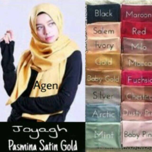 pasmina satin silk / jilbab turkey / hijab in murah