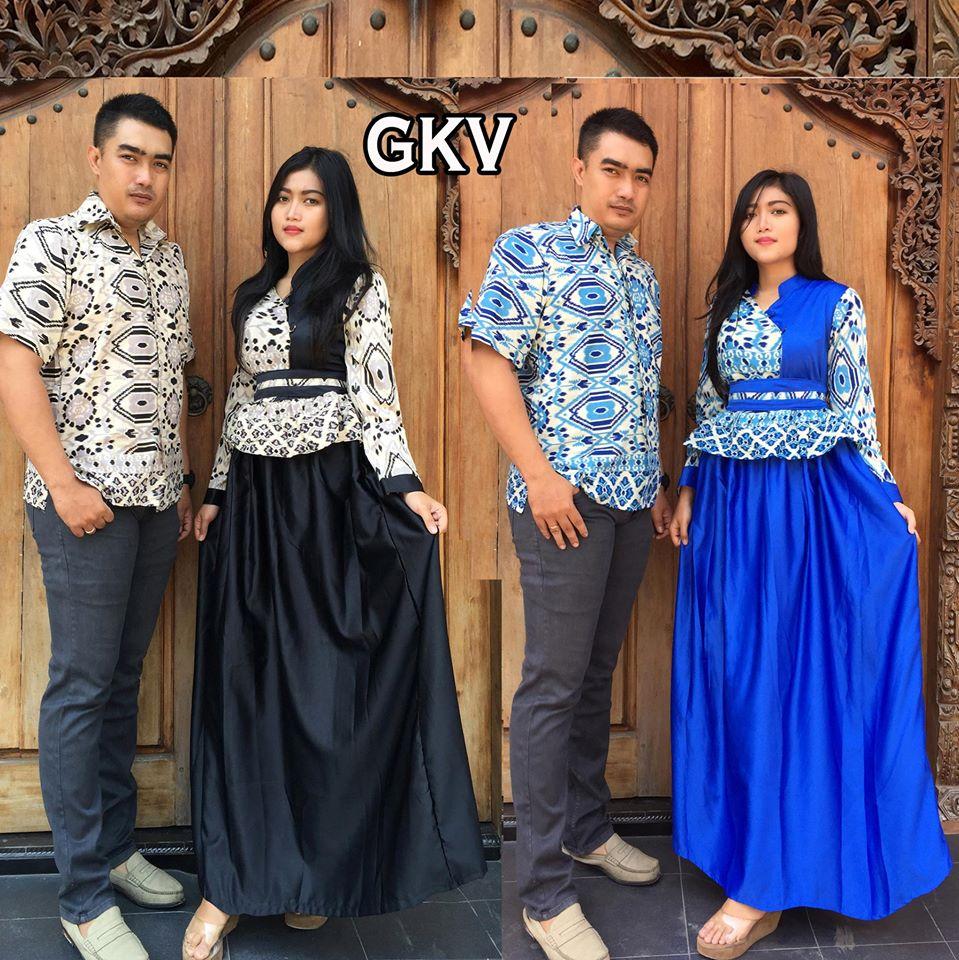 Jual Baju Sarimbit Batik Couple Gamis Baju Pasangan Sepasang