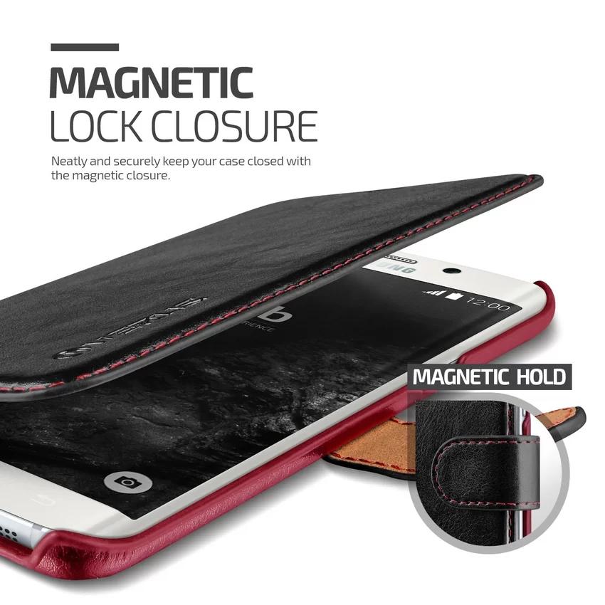 Verus Samsung Galaxy S6 Edge Plus Dandy Layered Leather Case - Hitam
