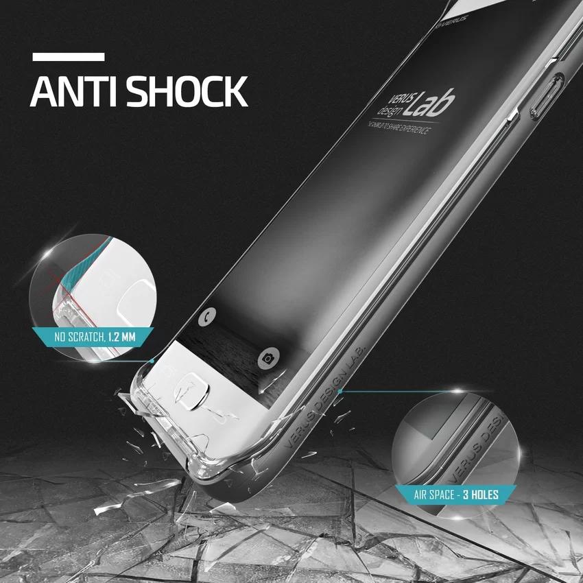 Verus Samsung Galaxy S6 Edge Plus Crystal Bumper Steel - Silver