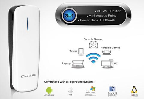 router Cyrus Power Mifi 1800Mah