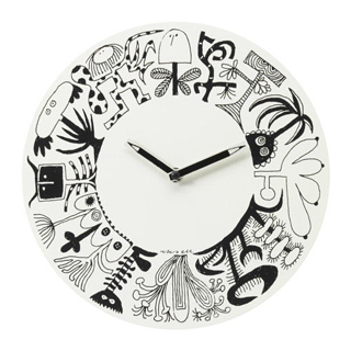 Jual Ikea Onskedrom Wall Clock Jam Dinding Hitam Putih Pufaluv