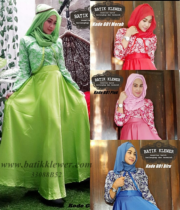 Hijab Batik / Long Dress Batik Clarisa