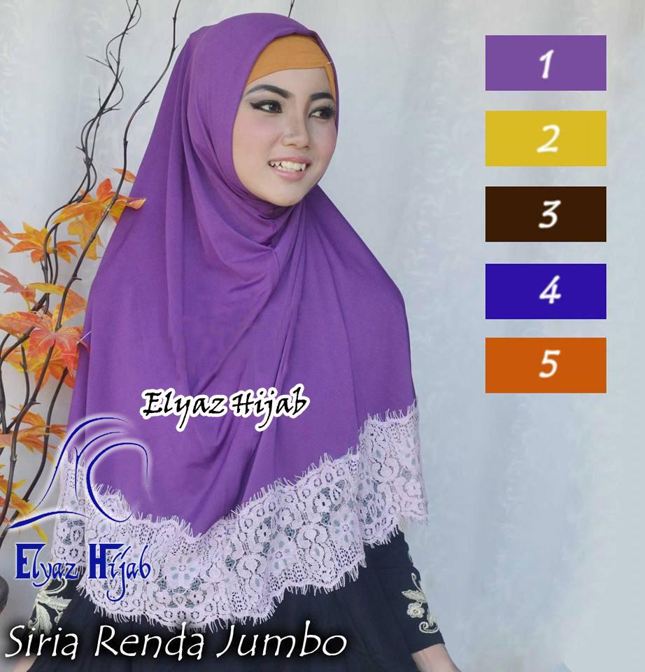 Jual Jilbab Siria Renda Silang Elyaz Hijab Tokopedia Jilba