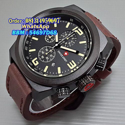 harga SWISS ARMY SA3126M Leather Tokopedia.com