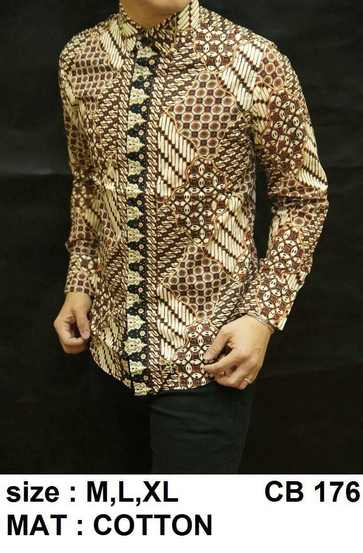 Baju Batik Pria Slim Fit Lengan Panjang 2b1b09ecc8