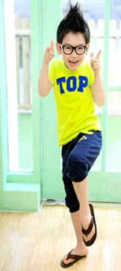 STKDL144 - Setelan Anak Laki Yellow TOP