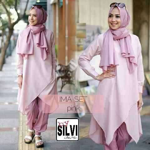 ima set | setelan hijab | 3 in 1