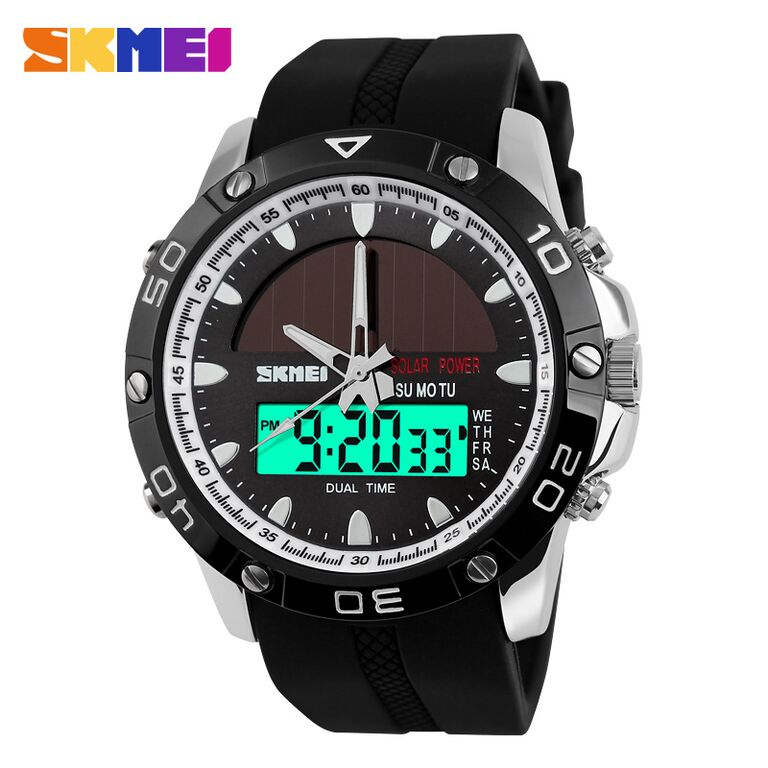 SKMEI Solar Power Sport LED Watch Water Resistant 50m - AD1064E