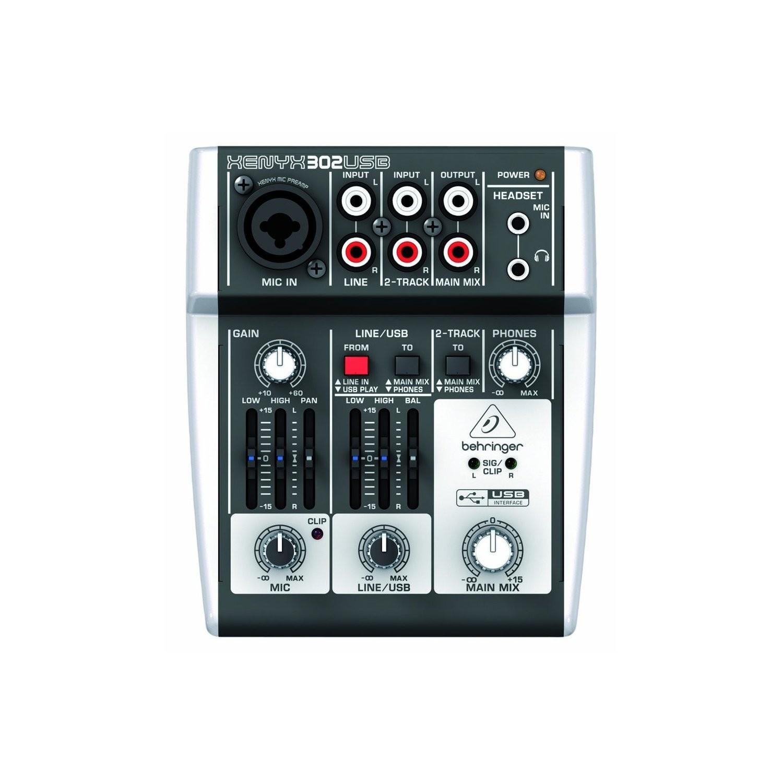 harga Behringer XENYX 302USB 5-Input Compact Mixer and USB Interface Tokopedia.com