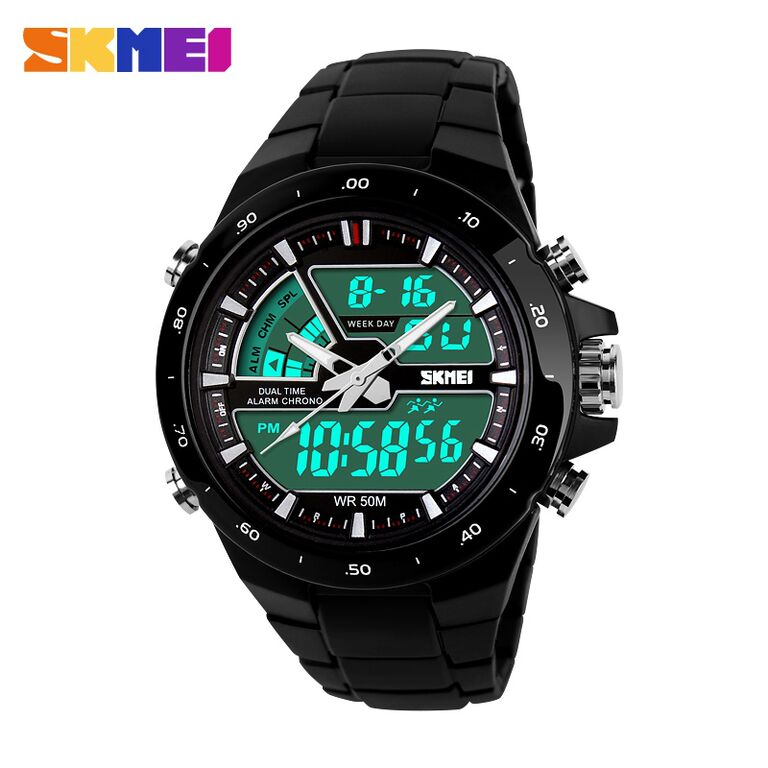 Jam tangan SKMEI Casio Men Sport LED AD1016 - Black