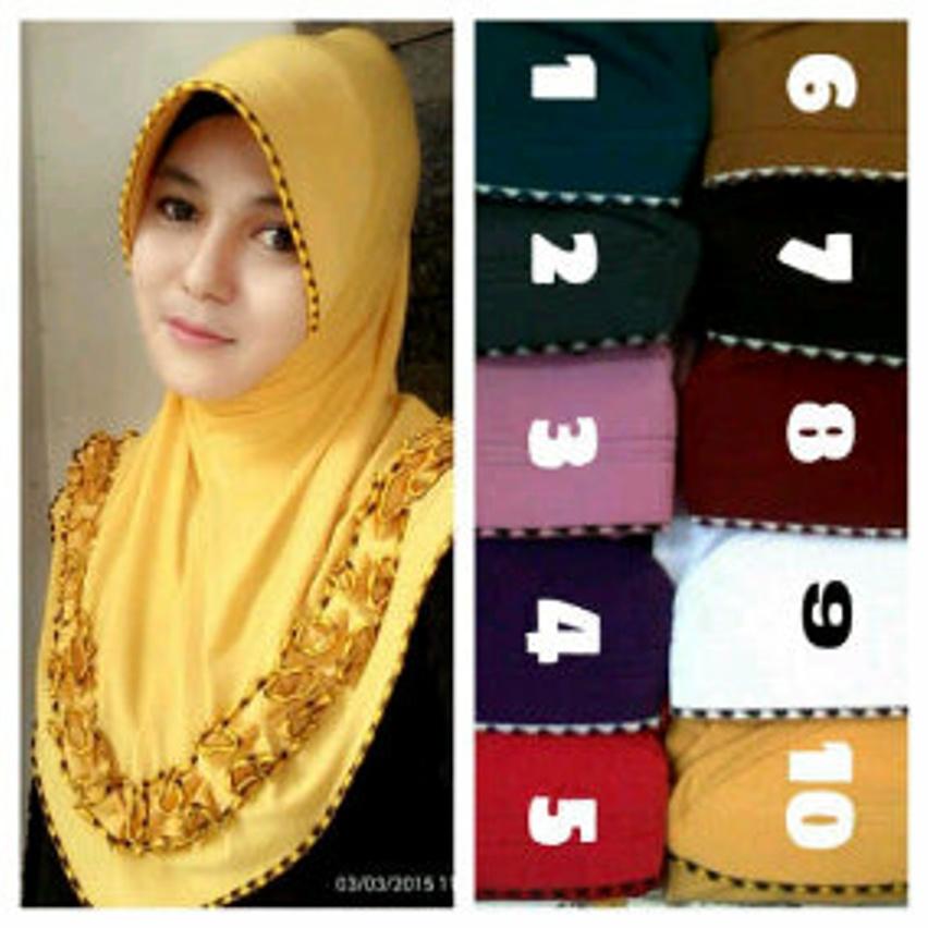 Model Baju Gamis Hijab Jilbab Instant Bergo Gotik Sulam