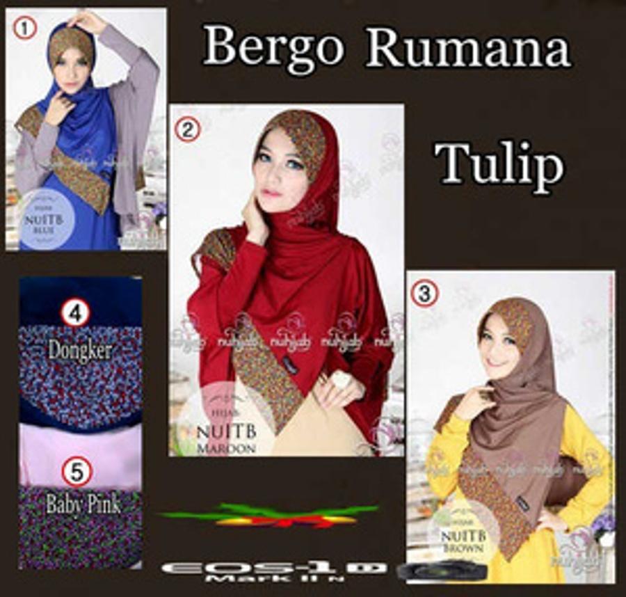 Model Baju Gamis Hijab Jilbab Bergo Rumana Tulip