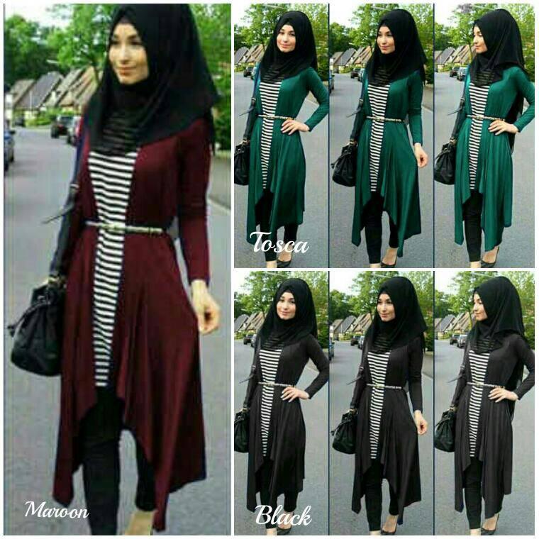 Setelan Salur Cardi Hijab Tasya