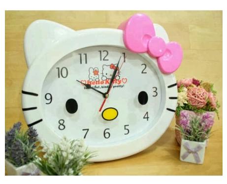 Jam Dinding Kepala ( L ) - Hello Kitty