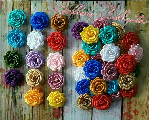 bros / Brooch / aksesoris hijab / bros gardenia simple
