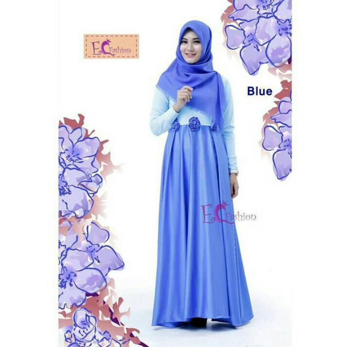 Nira Dress Blue - Hijab