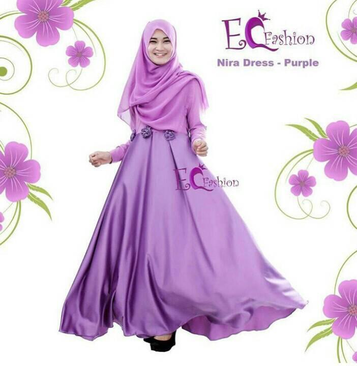 Nira Dress Purple - Hijab
