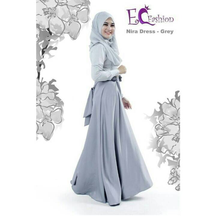 Nira Dress Grey - Hijab