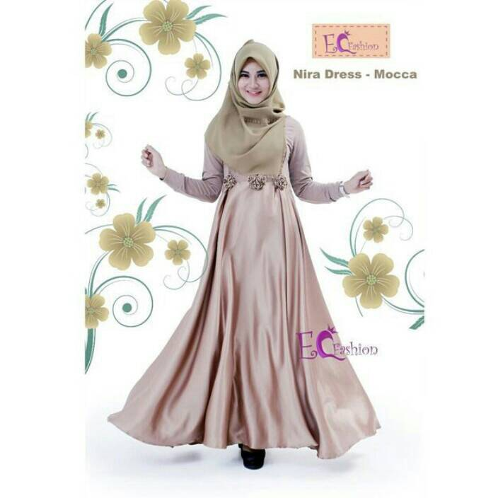 Nira Dress Mocca / Hijab