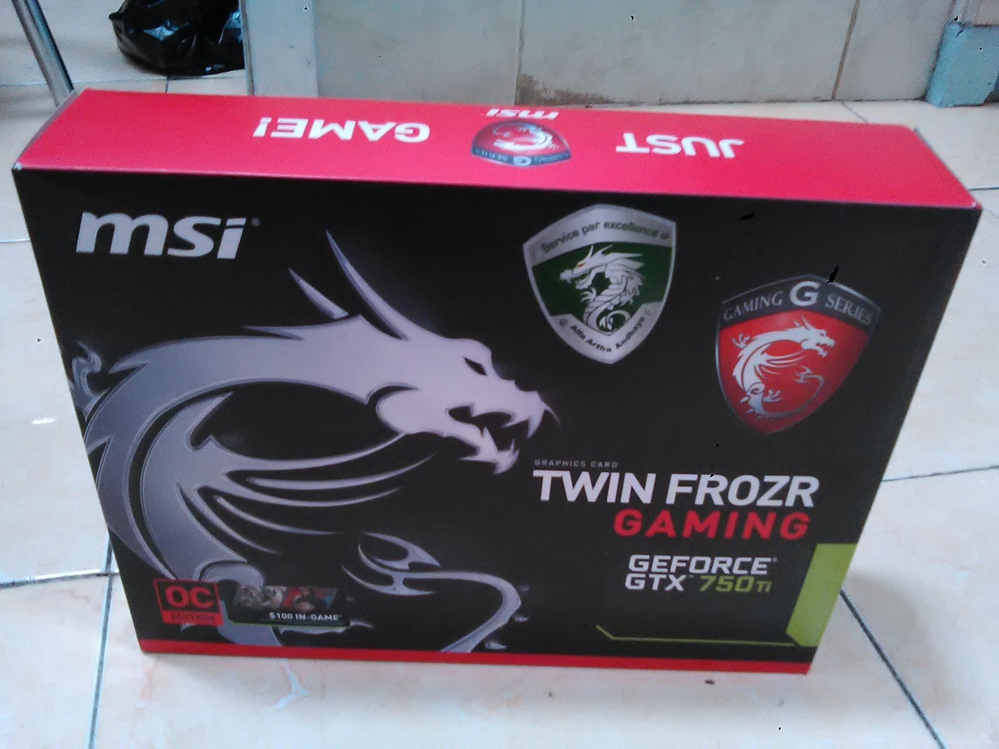 Jual Msi Geforce Gtx 750 Ti 2gb Ddr5 Twin Frozr Bonnibel Store Gaming Tokopedia