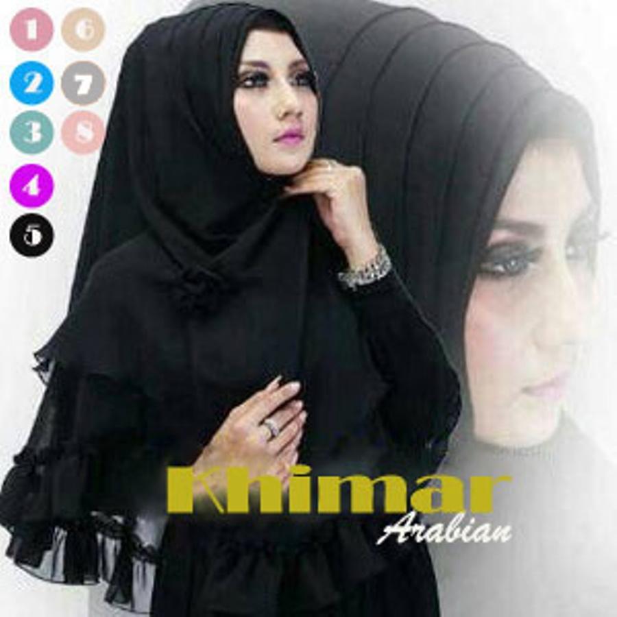 Model Baju Gamis Hijab Jilbab Instant Khimar Arabian