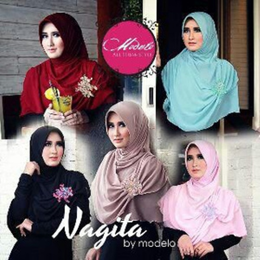Model Baju Gamis Hijab Jilbab Bergo Nagita