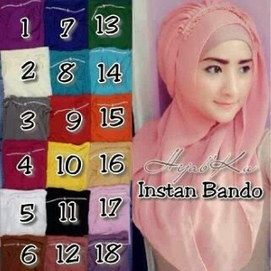 Model Baju Gamis Hijab Jilbab Instant Bando