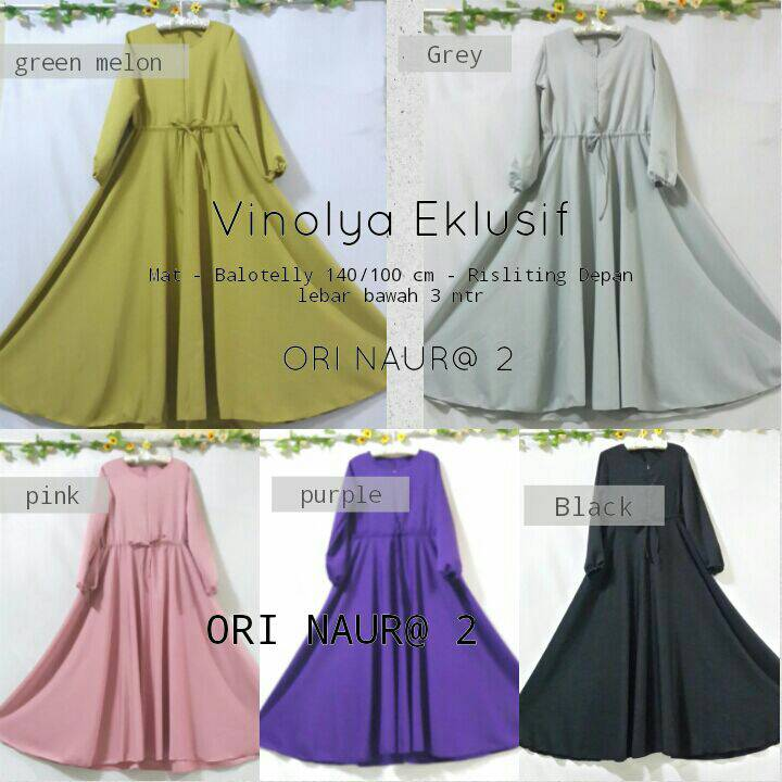 SUPPLIER BAJU HIJAB : VINOLA DRESS BALOTELLY HQ